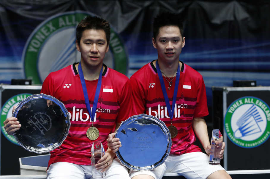 Indonesia has won the men's doubles 19 times in the All England's 45-year history. (Reuters Photo/Andrew Boyers)