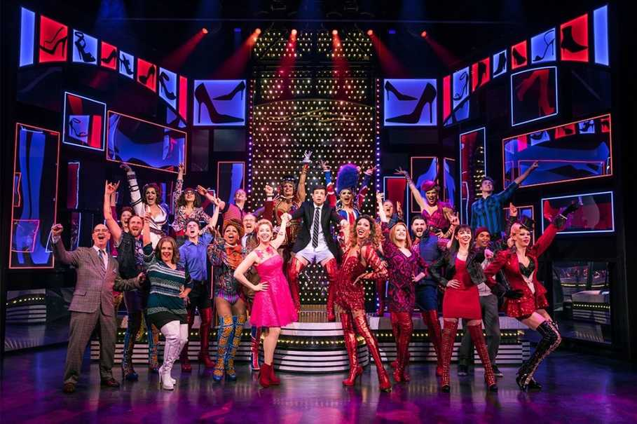 Follow a young man's quest to save his family's shoe factory in the musical 'Kinky Boots.' (Photo courtesy of Sydney Capitol Theatre/Matthew Murphy)