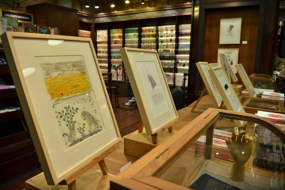More colors are included in Goenawan Mohamad's sketches, with some also blending words, quotes and lines from his poems. (Photo courtesy of Komunitas Salihara/Witjak Widhi Cahya)