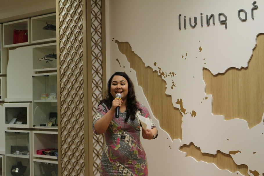 Rossa Darni at the Trafigura-UWCSEA Scholars Reunion Event on Wednesday (05/07). (JG Photo/Sheany)