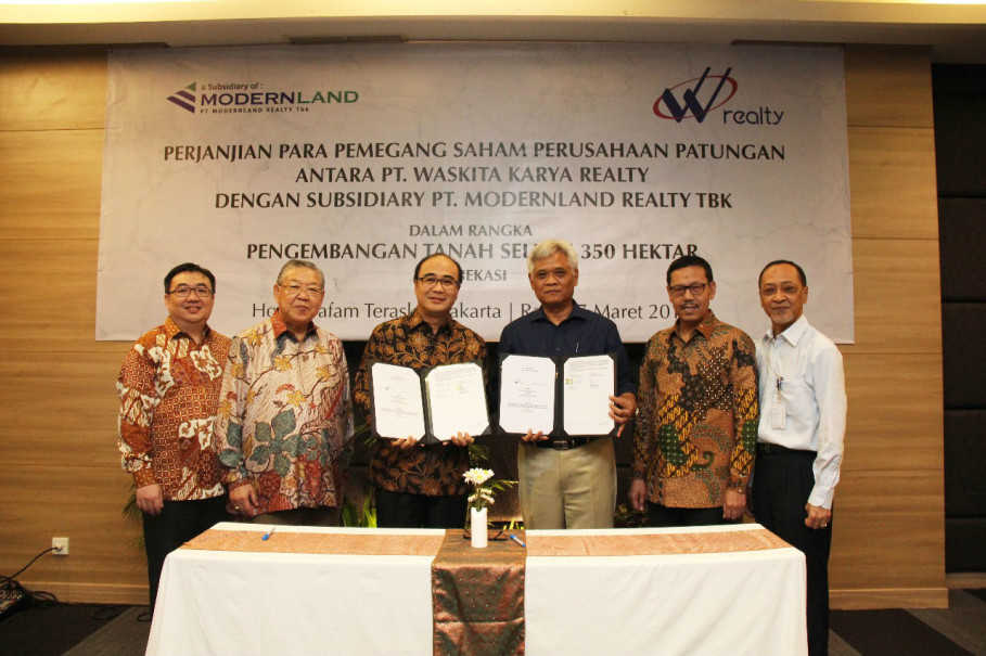 WSKT MDLN Waskita Karya Realty Modernland Realty to Collaborate with Modernland Realty, Develop Toll Road City | Jakarta Globe
