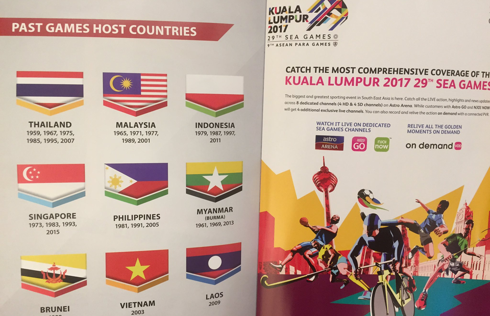 indonesian flag upside down in official sea games booklet indonesian flag upside down in official
