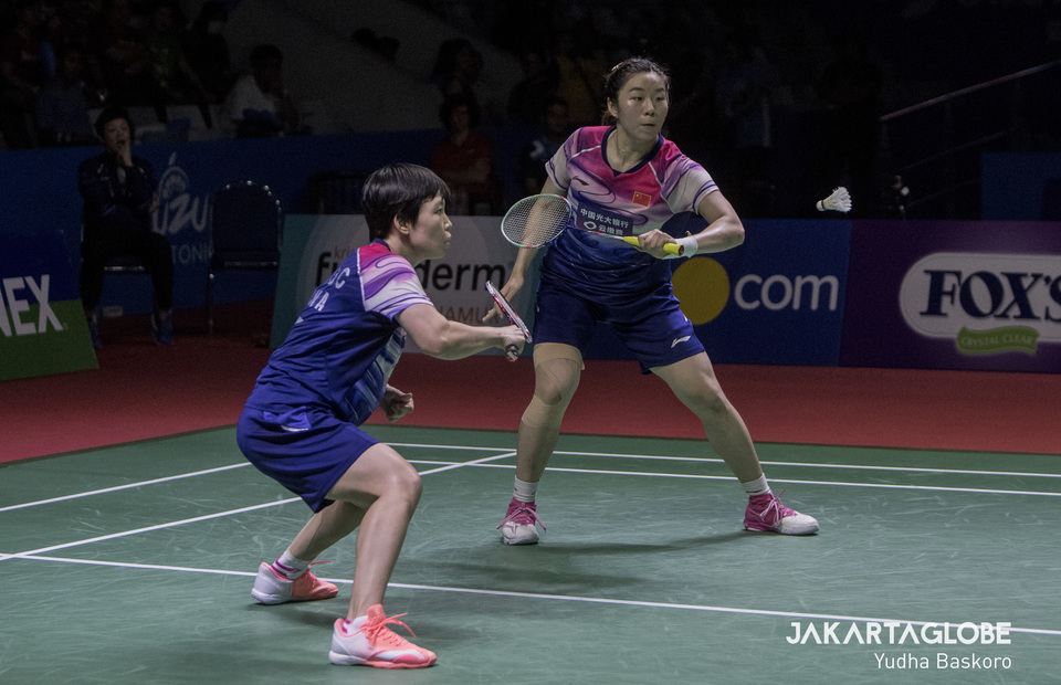 Chen Qingchen and Jia Yifan were eliminated in the semifinal. (JG Photo/Yudha Baskoro)