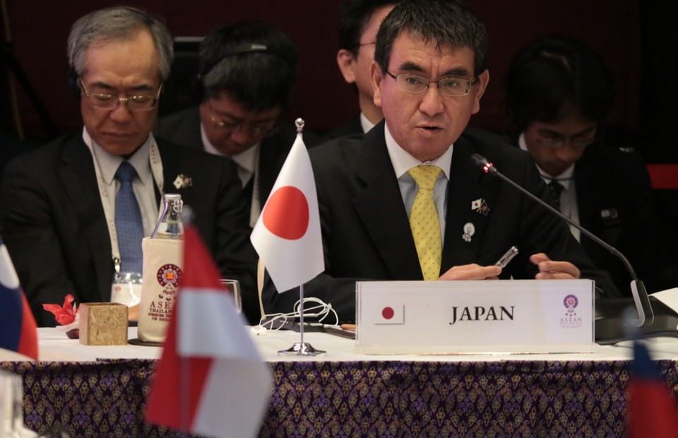 Japanese Foreign Minister Taro Kono. (Photo courtesy of Asean Thailand 2019)
