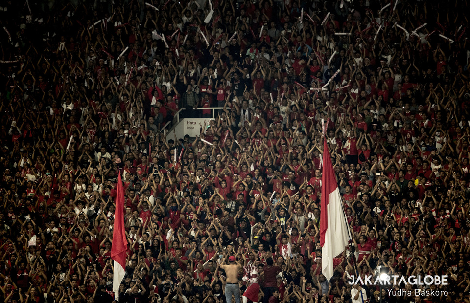 Thousands of Indonesians showed up to support the national team. (JG Photo/Yudha Baskoro)