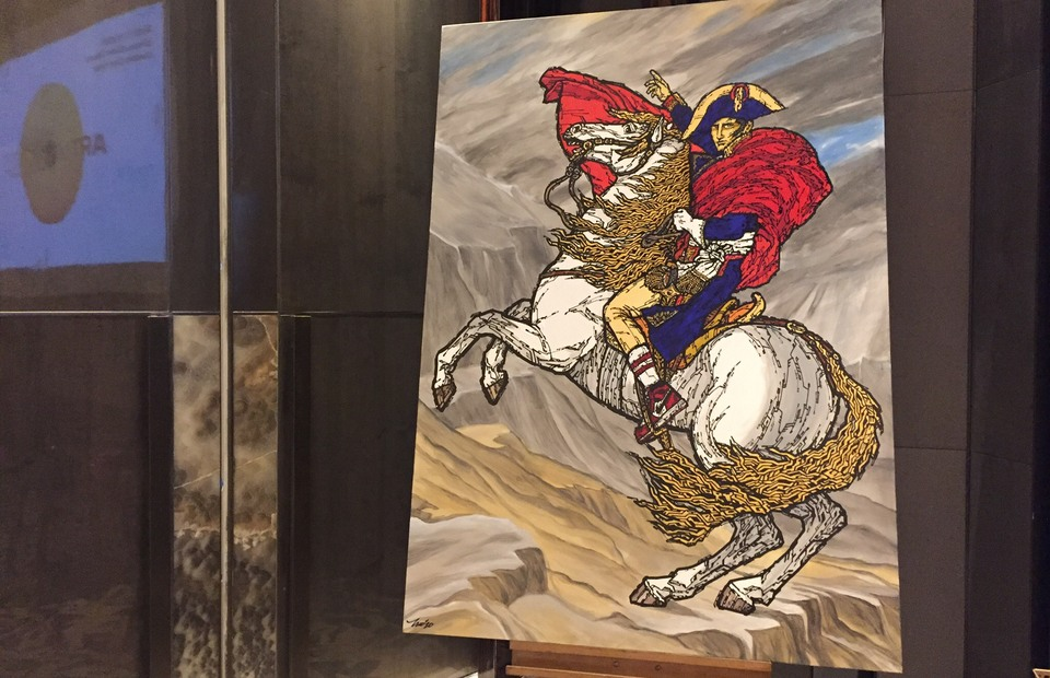 Napoleon Bonaparte painting by Mochtar Sarman which will be exhibited in Art Moments 2020 (JG Photo/ Tara Marchelin)