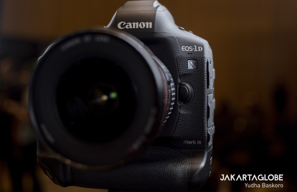 Flagship DSLR Canon EOS 1D X Mark III during product launch in Jakarta on Friday (21/02). (JG Photo/Yudha Baskoro)