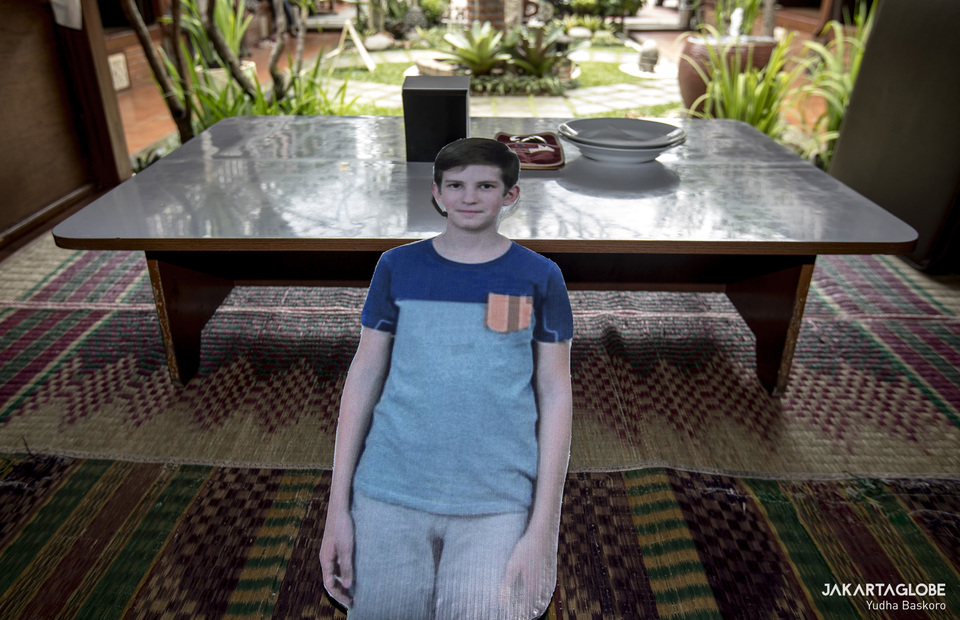 A mannequin seen on a customer table inside a restaurant in Bogor, West Java. (JG Photo/Yudha Baskoro)