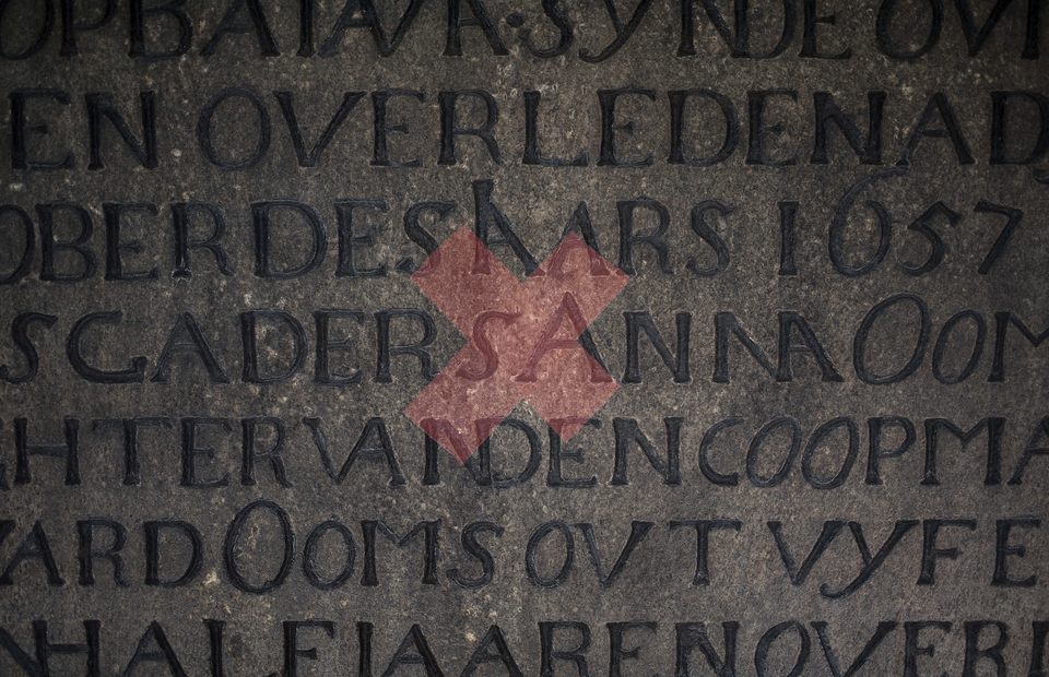 Double exposure -- A Dutch inscription combine with X sign in a chair to maintain physical distancing in Wayang Museum on June (14/06). (JG Photo/Yudha Baskoro)