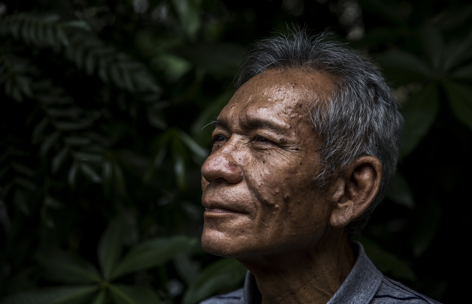 A portrait of Azmir Azhari taken at his home in Kebon Jeruk, West Jakarta on Friday (10/07). (JG Photo/Yudha Baskoro)