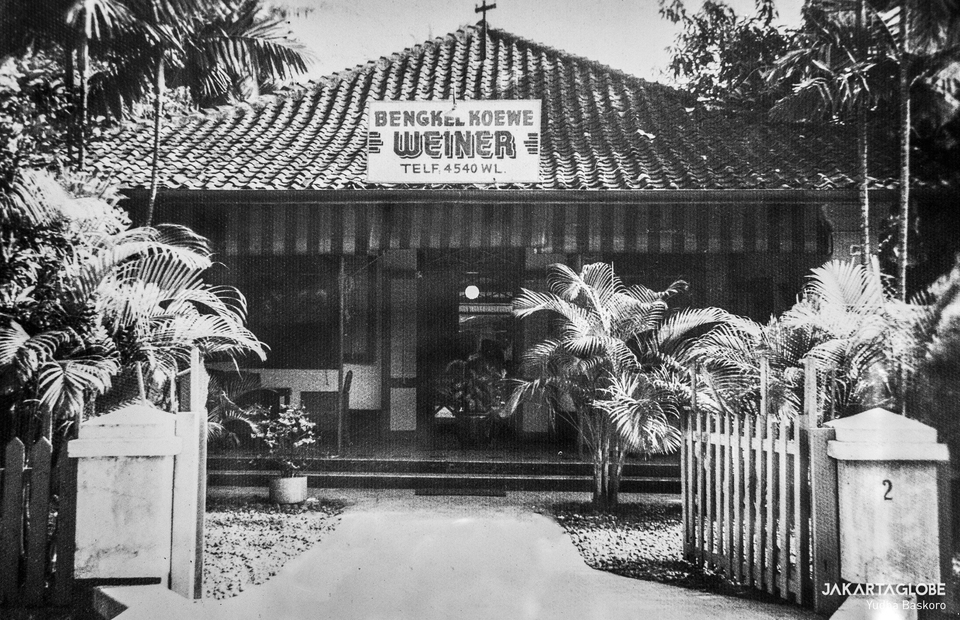 Digital photograph restoration - Maison Weiner bakery in the 1950s. (JG Photo/Yudha Baskoro)