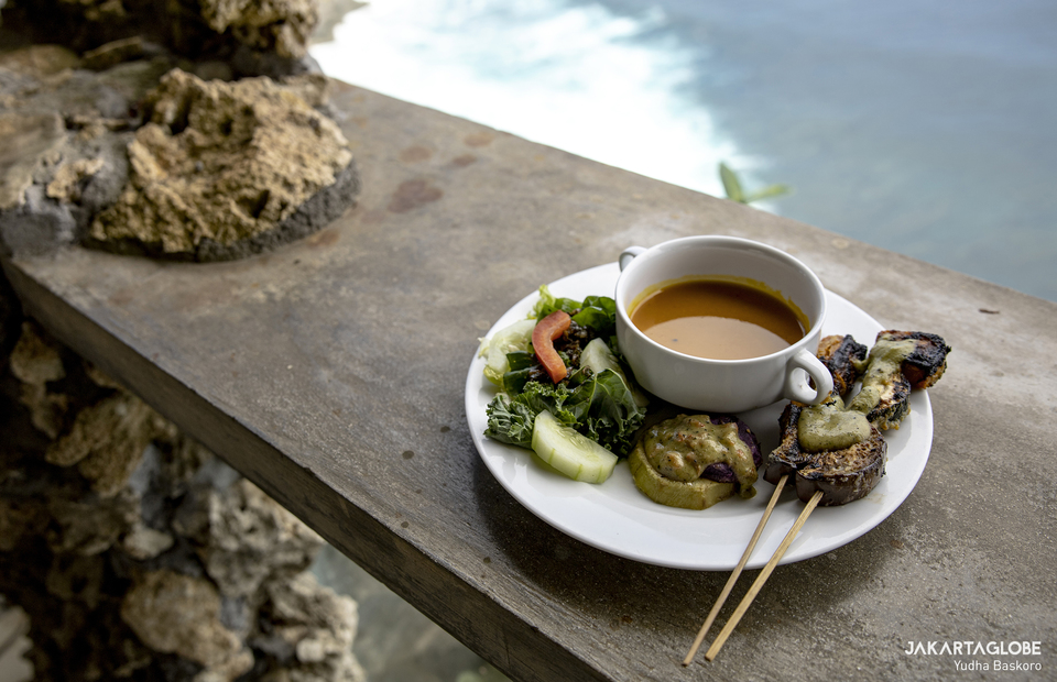 Vegan menu in Malini Agro Park, Uluwatu, Bali on Monday (19/10). (JG Photo/Yudha Baskoro)