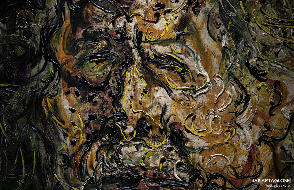 The detail of Affandi