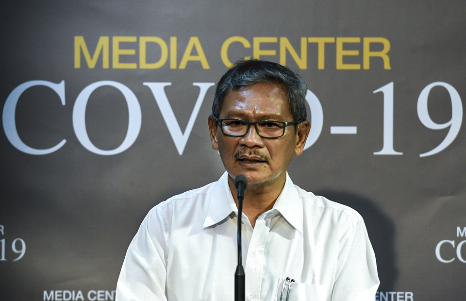 Achmad Yurianto, the spokesperson for Indonesia