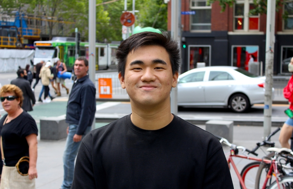 Neville Kurniawan, an Indonesian Chinese living in Melbourne, poses for a photo at State Library of Victoria on February 2, 2021. (JG Photo/Sienna Curnow)