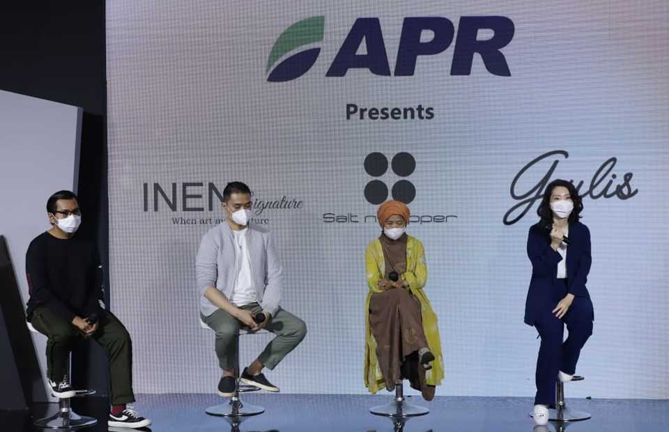 Fashion show press conference at the annual Muslim Fashion Festival, or Muffest, at Kota Kasablanka mall in Jakarta on March 27, 2021. (Photo Courtesy of APR)